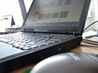 laptop, myszka